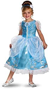 Disguise Disney's Cinderella Sparkle Deluxe Girls Costume, 4-6X by Disguise [並行輸入品]