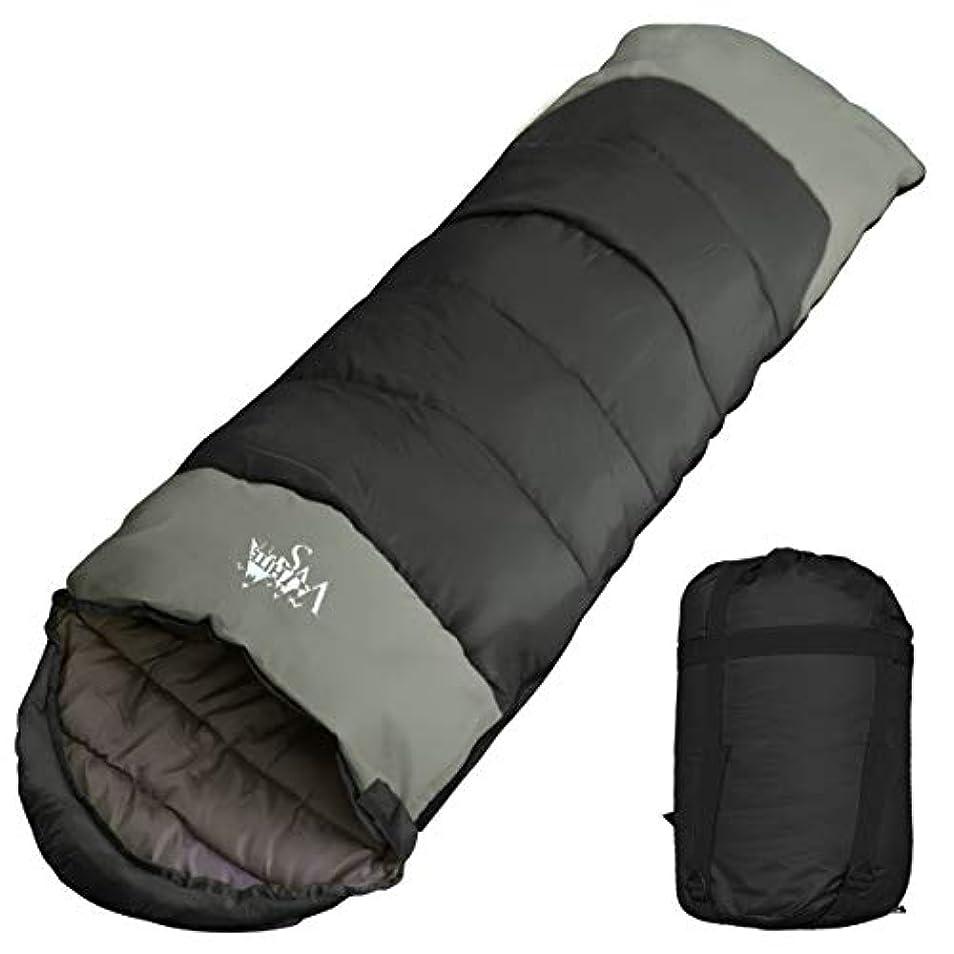 異常なできた今晩archi 寝袋 シュラフ 封筒型 コンパクト収納 丸洗い 抗菌仕様 最低使用温度-15℃ 1800 C