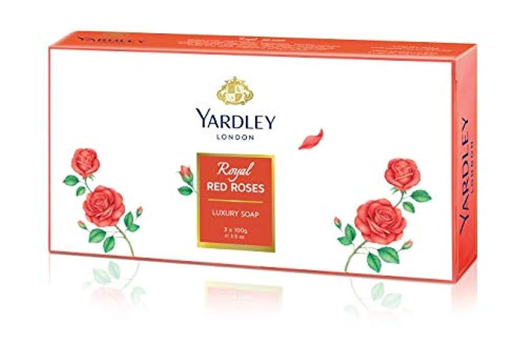 日付シーボードビルYardley 1ロンドン赤バラ、3 x net wt。100 g e 3.5oz
