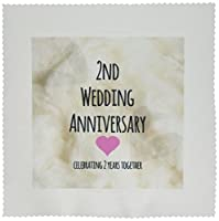 InspirationzStore–2nd結婚記念日ギフト–コットンCelebrating 2Years Together–2番目Anniversaries 2つYrs–キルト正方形 25x25 inch quilt square qs_154429_10