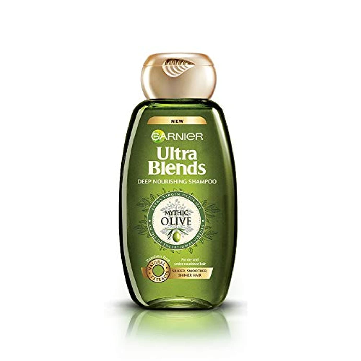 間欠圧縮不規則性Garnier Ultra Blends Shampoo, Mythic Olive, 360ml