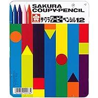 サクラクレパス 色鉛筆 クーピー 12色 缶ケース入り FY12