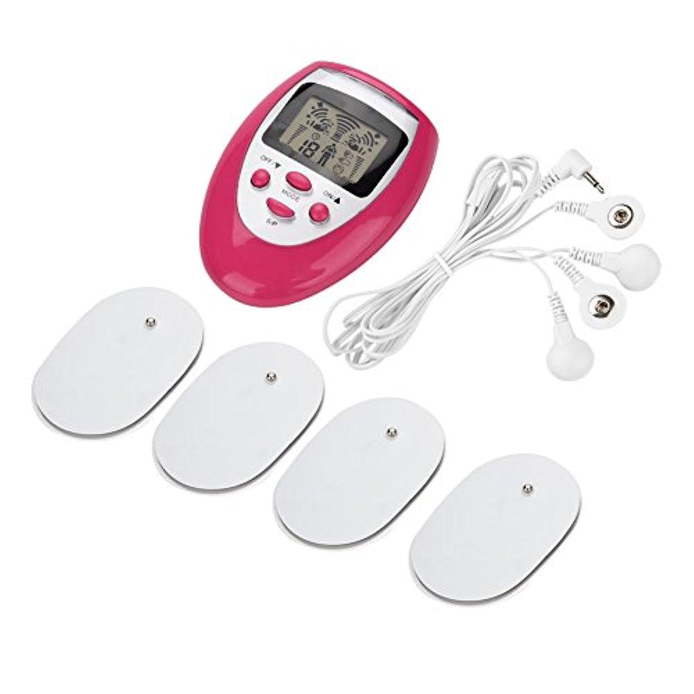 低周波治療器 - Dewin マッサージ機 5モード 電気で筋肉に刺激 リラックス 疲労回復 血行促進 痛みの緩解 家庭用 (Color : Rose Red)