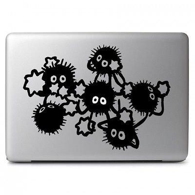 MacBook 対応 アートステッカー となりのトトロ 真っ黒くろすけ Soot Sprites Dust Bunnies (Soot Sprites) - Vinyl Decal (11, 12, 13, 15 or 17 インチ Macbook, Air Pro Retina 対応) 並行輸入品