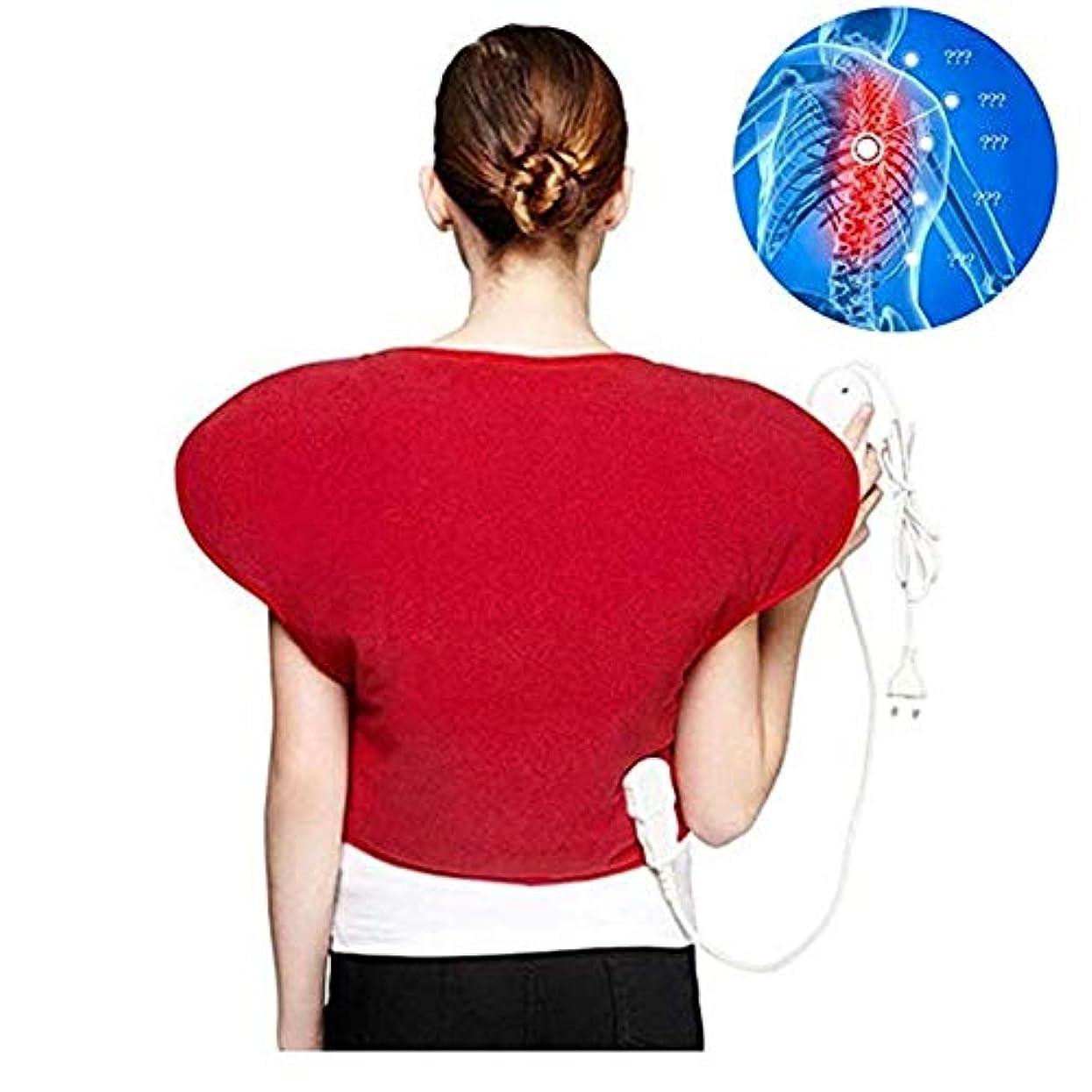 悪名高いメンタリティ勇気のある肩と首の電気ヒーターパッド - 物理的な痛みの救済ホットヒートのベスト、3ファイル一定の温度、自動パワーオフ、医療用品蝶形のマッサージのヒートパッド
