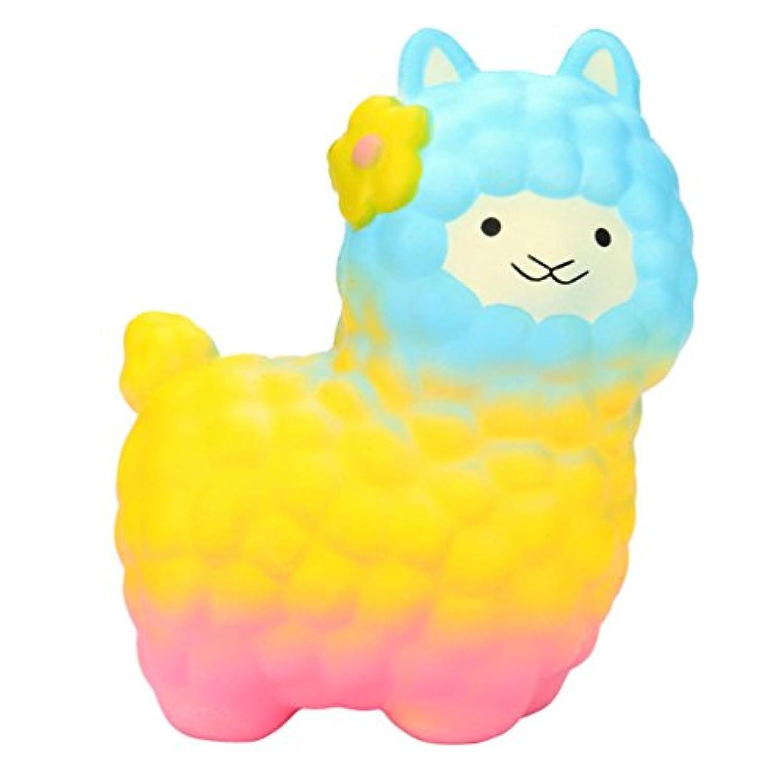 matoen matoenジャンボSheep SquishyかわいいアルパカスーパーSlow Rising香りつき楽しい動物おもちゃ free size イエロー Matoen-GH01