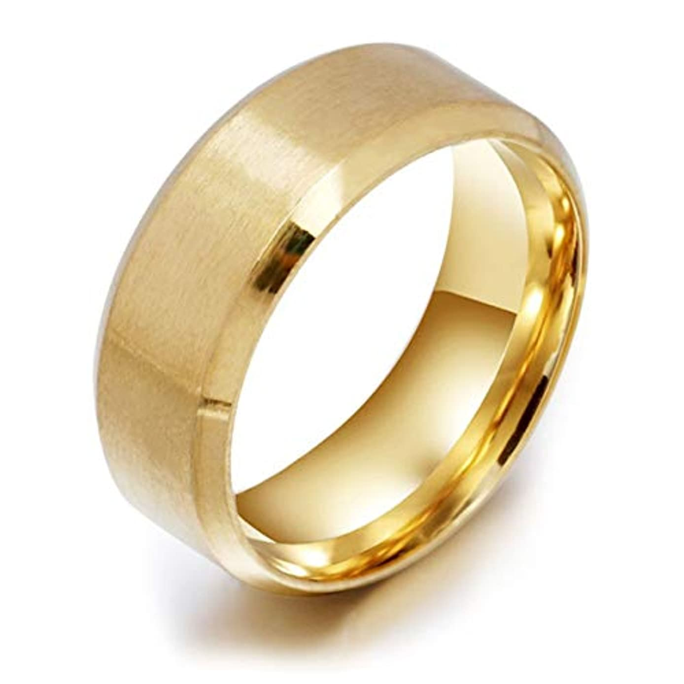 脊椎典型的なブラシステンレス鋼の医療指リング磁気減量リング男性のための高いポーランドのファッションジュエリー女性リング-ゴールド10