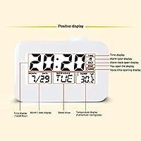 NancyMissY 液晶投影時計電子デスククロックベッドサイド目覚まし時計付きバックライトサウンド付きプロジェクターウォッチデジタル目覚まし時計