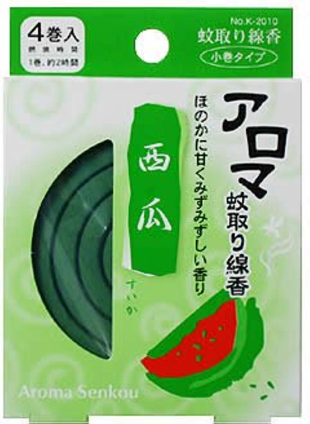 ドラフト恒久的喉が渇いたアロマ蚊取り線香 西瓜(すいか)