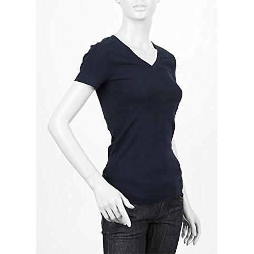 (スリードッツ) three dots VネックTシャツ Mサイズ NAVY ネイビー [並行輸入品]