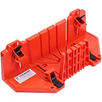 AUTOTOOLHOME マイターボックス クランプ式 マイターボックス 3角度切断可能 横90度/45度/22.5度 2x4用 木材に適合 鋸切断ガイド 木材を固定 耐久性 DIY初心者 家庭用 木材切断用のガイド