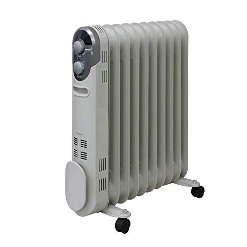 山善(YAMAZEN) オイルヒーター(1200/700/500W 3段階切替式)(温度調節機能付)(24時間入切タイマー付) ホワイ...