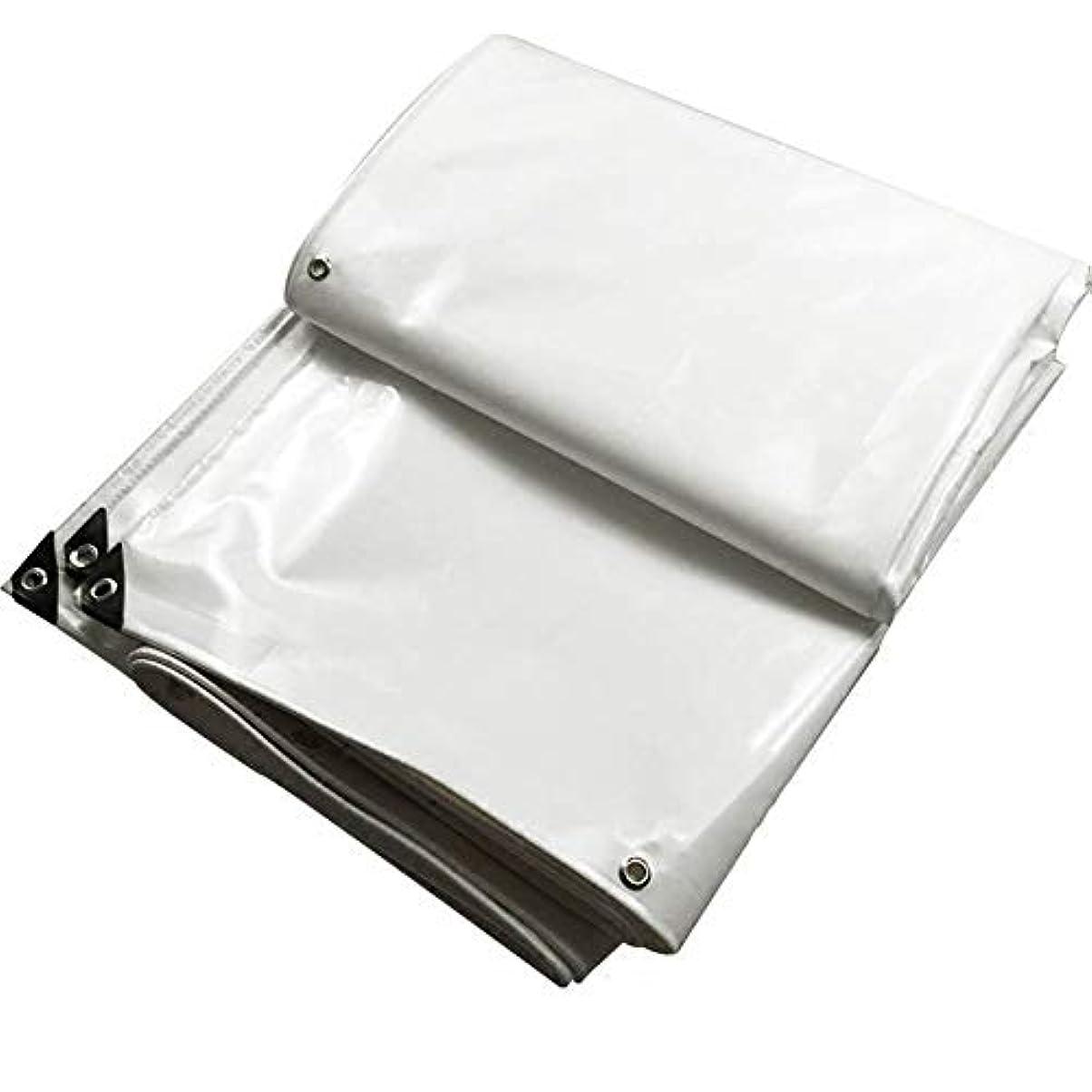予報輸送十分ZHANWEI ターポリンタープ ヘビーデューティー 厚くする 防水 日焼け止め PVC - 白、 600g /㎡、 カスタマイズ可能なサイズ (色 : 白, サイズ さいず : 1.5x2m)