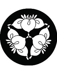 家紋シール 三つ花杜若紋 布タイプ 直径40mm 6枚セット NS4-1337
