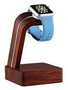Navitech London Apple Watch 用チャージャースタンド/チャージドック/充電スタンド/ タイムスタンド/ ウオッチドック/ ウオッチスタンド (ウッド茶)