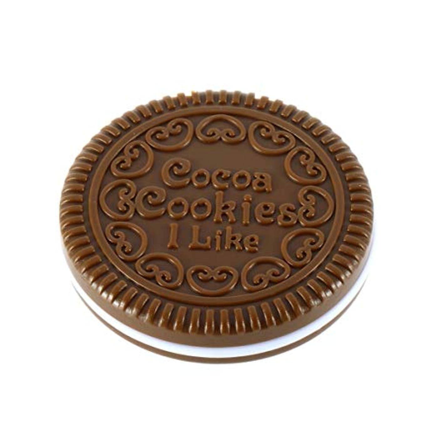 逃れるアラブ証書Intercoreyかわいい女の子チョコレートクッキーの形のデザイン化粧品ミラー化粧チョコレートくし