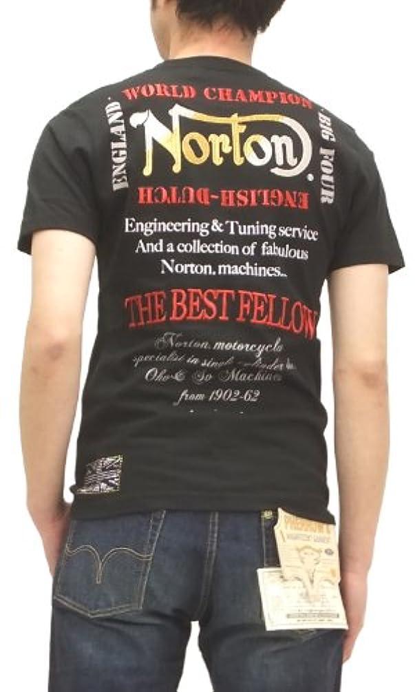 供給のホスト技術的な(ノートンモーターサイクルズ)Norton Motorcycles Tシャツ メタルストーン メンズ 半袖tee 32N1008 黒