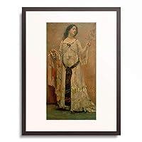 ロヴィス・コリント Lovis Corinth 「Portrait Charlotte Berend im weissen Kleid」 額装アート作品