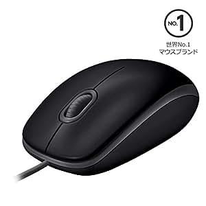 Logicool ロジクール M110sBK 有線 静音 マウス 小型 左右対称型 USB 簡単接続 M110s ブラック 国内正規品 3年間無償保証