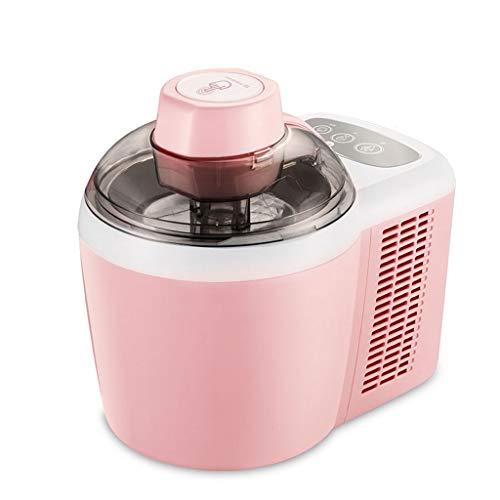 0.54クォートアイスクリームメーカー、圧縮冷却、プロのジェラート混合パドル付きフローズンヨーグルトシャーベットメーカー、自家製全自動製氷機 (色 : ピンク)