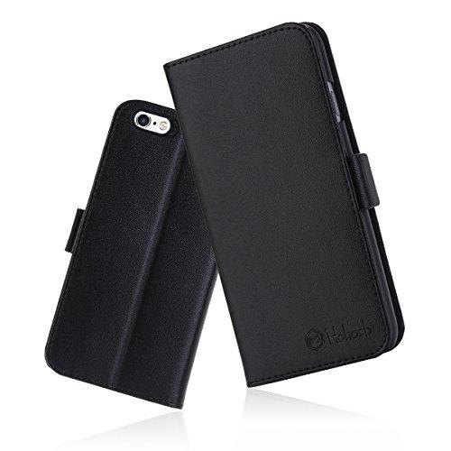 iPhone6s ケース 手帳型 iPhone6カバー 財布型 サイドマグネット式 カード収納 スタンド機能 高級PUレザー iPhone6ケース 耐衝撃 アイフォン6 手帳型ケース 全面保護 耐摩擦 人気 おしゃれ Hohosb(iPhone6s/6用, ブラック)