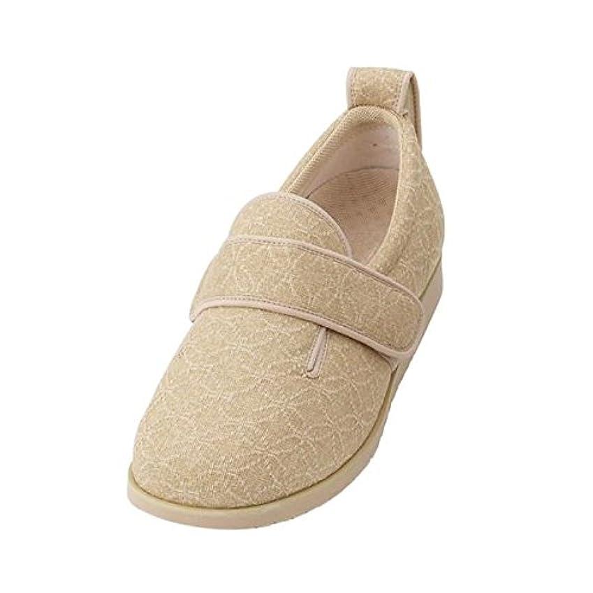 考えた広い縁石介護靴 施設 院内用 ダブルマジック2雅 7E(ワイドサイズ) 7021 両足 徳武産業 あゆみシリーズ /S (21.0~21.5cm) ベージュ ファッション 靴 シューズ サポートシューズ 室内用 top1-ds-...