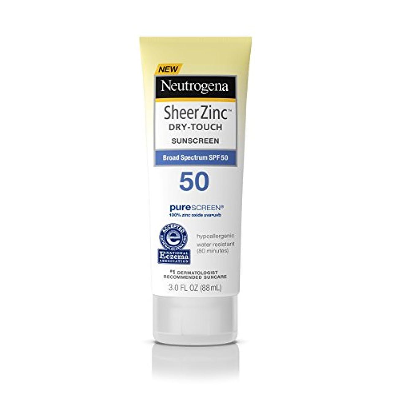 Neutrogena シアー亜鉛ドライタッチのSPF#50日焼け止め3オンス(88Ml)