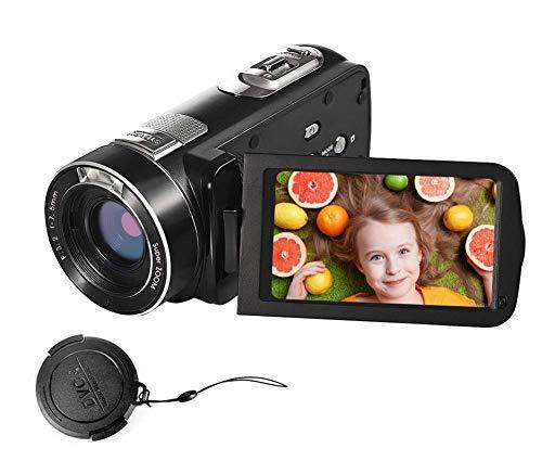ビデオカメラ デジタルカメラ フルHD 1080p デジタルカメラ カムコーダー 24.0MP 18x 倍デジタルズーム3.0インチ LCD 270° 回転スクリーン リモコン付き