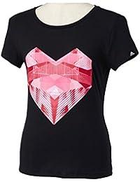 adidas(アディダス) レディース・ウィメンズ 43 W HEART 半袖Tシャツ ブラック LLY12,M68091
