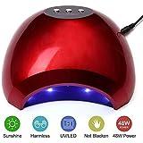 ネイルドライヤーランプ48W UV LEDネイルキュアランプライトソークオフネイルジェルランプマニキュアペディキュアドライヤー付きセンサー高速