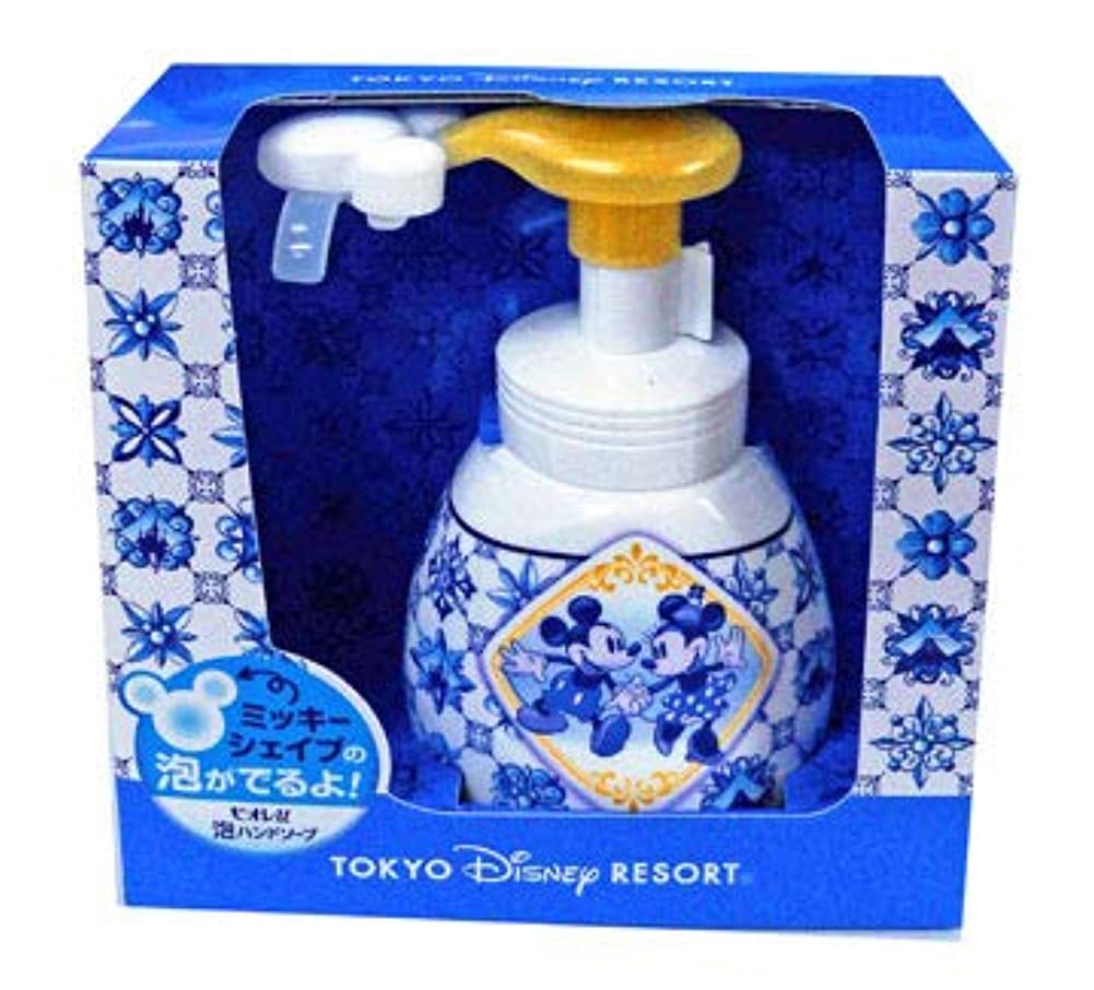 揮発性物足りない伝説泡ハンドソープ(新デザイン) 東京ディズニーリゾート ミッキーとミニー柄  おみやげ