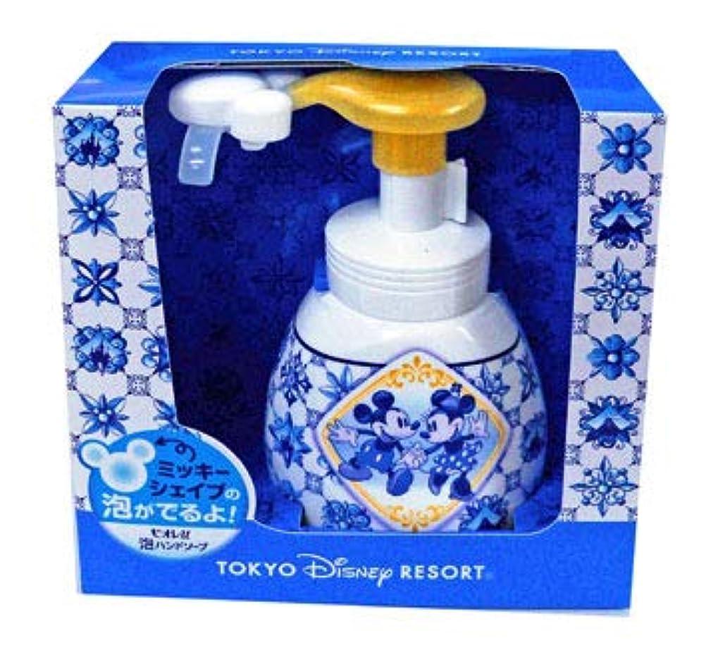 変形するベテラン産地泡ハンドソープ(新デザイン) 東京ディズニーリゾート ミッキーとミニー柄  おみやげ