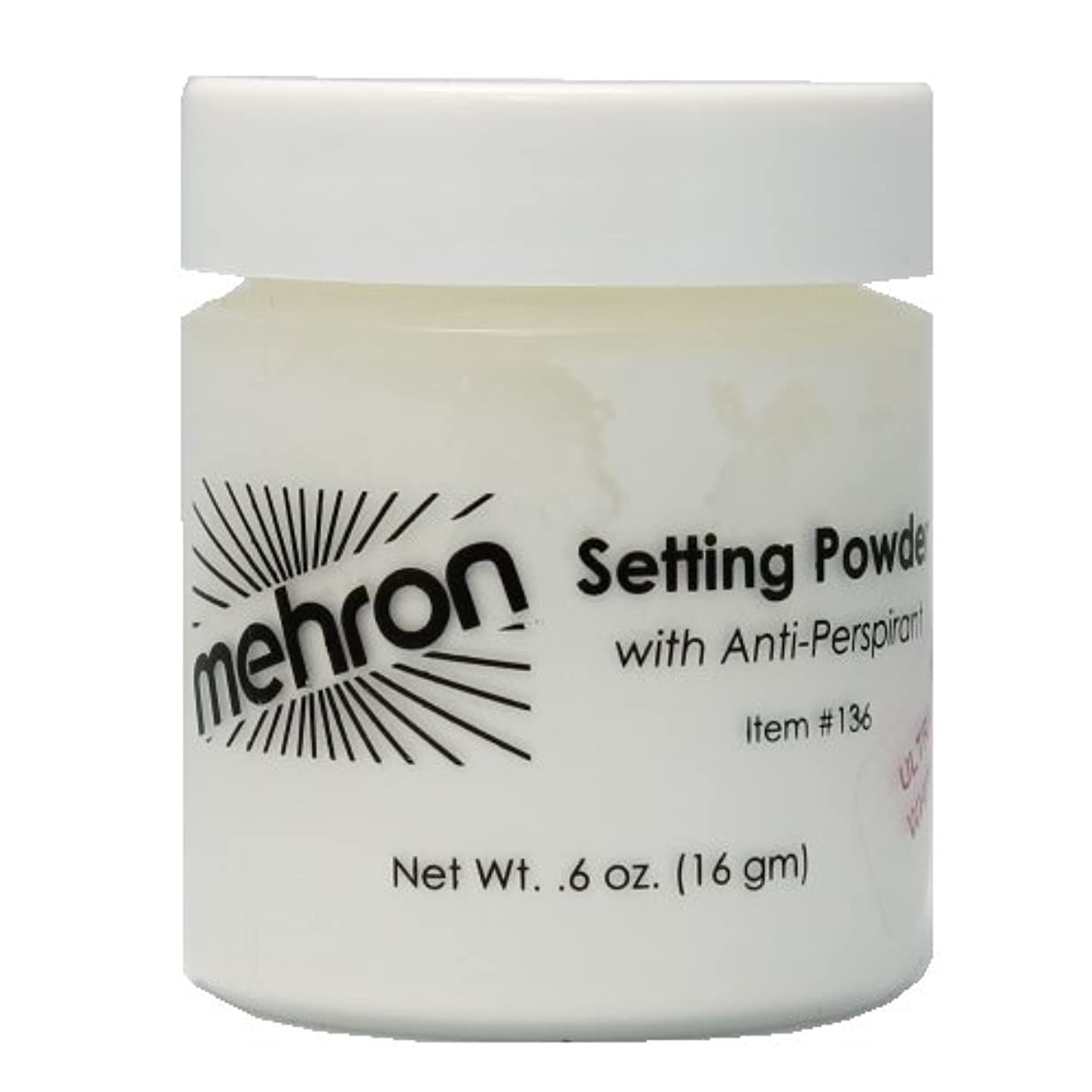 激しい配置散逸(6 Pack) mehron UltraFine Setting Powder with Anti-Perspriant - Ultra White (並行輸入品)