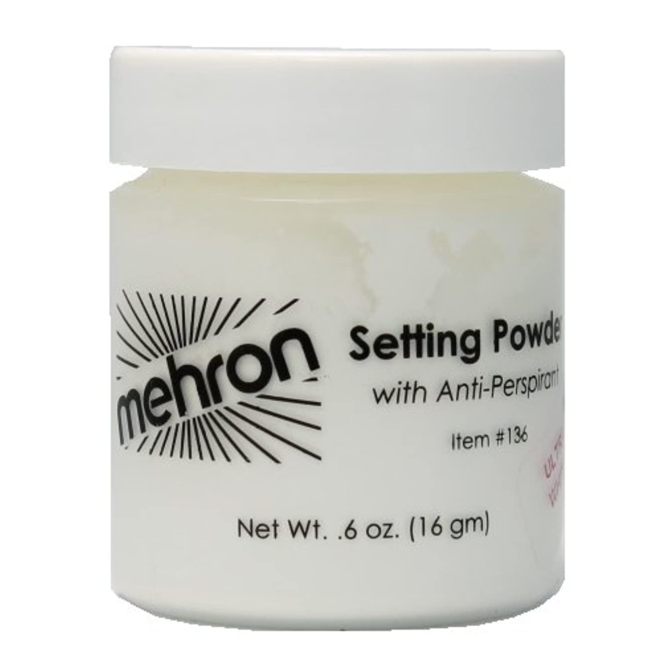 エラー半円依存(6 Pack) mehron UltraFine Setting Powder with Anti-Perspriant - Ultra White (並行輸入品)