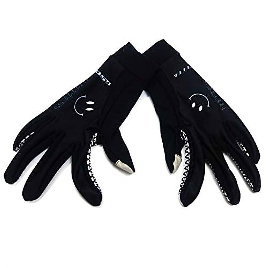 破裂発表するドルセブンイタリア Smile Mid Gloves ブラック タッチパネル対応 L(78W-SMI-MG-BK-L)