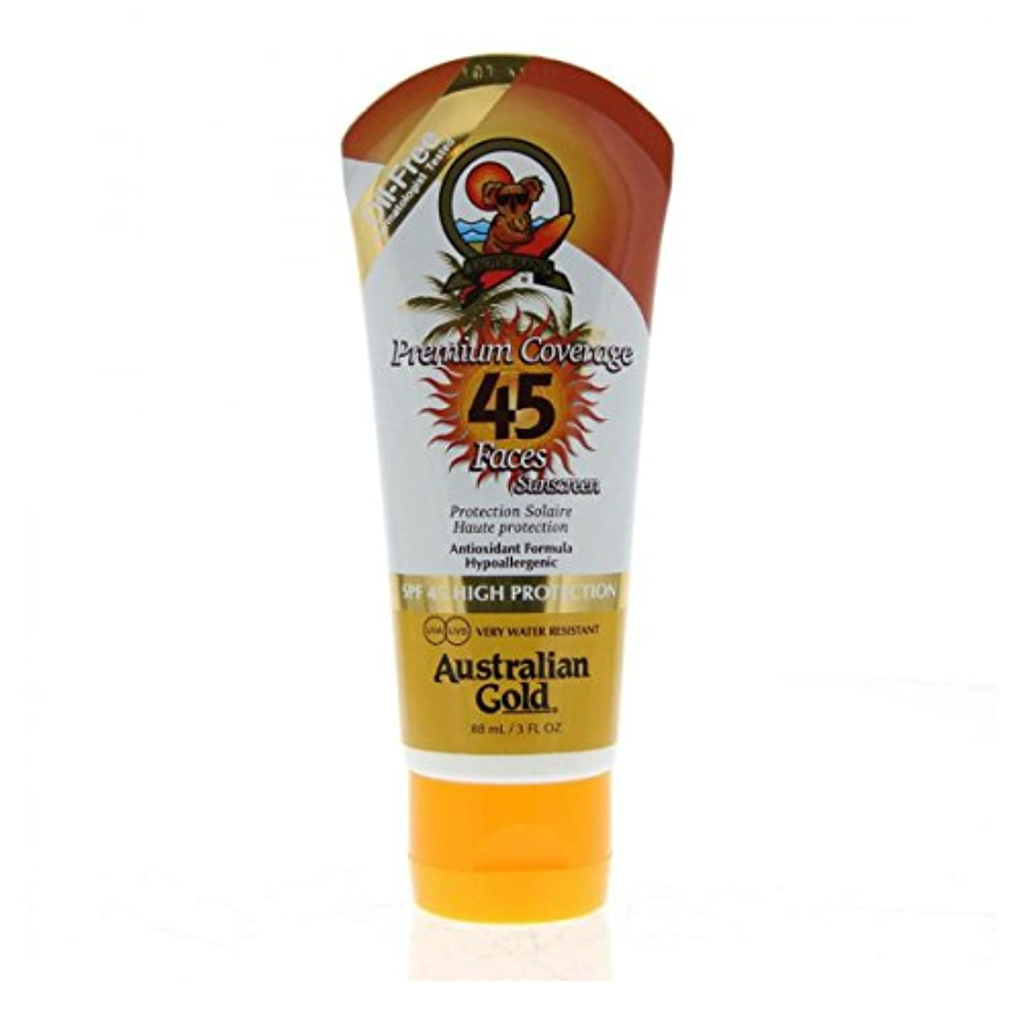 スパイ政治的観察Australian Gold Premium Coverage Face Spf45 88ml [並行輸入品]