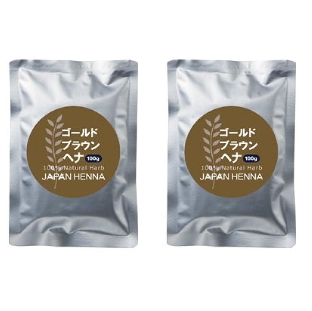 宇宙の鎮痛剤水を飲む【2個セット】 ジャパンヘナ 100g HC-2 ゴールドブラウン トリートメント