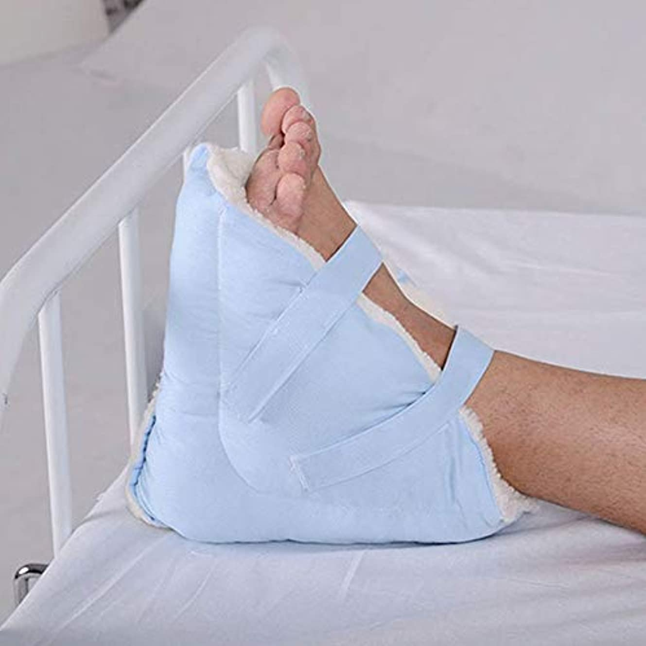 農業人里離れた電話する医療用ヒールクッションプロテクター - 足と足首の枕ガード1組   - 合成 ラムスウールフリースパッド入り - 圧力開放