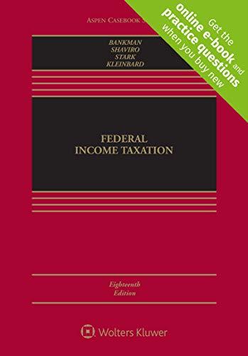Download Federal Income Taxation (Aspen Casebook) 1543801498
