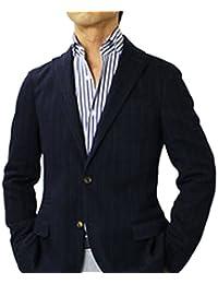 【アウトレット品】 イレブンティ チョークストライプ柄 ウールコットン ジャージー 2B シングル ジャケット [並行輸入品]