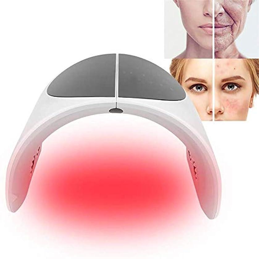 水流す付与7色LEDマスクフォトンライトビューティーマスク、肌の若返りにきび治療フェイシャルケアマシンホームサロンの使用