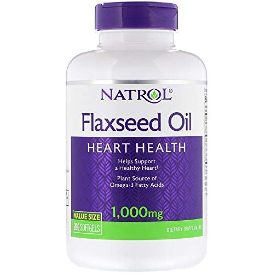 アラスカ便宜ダンスNatrol - Omega-3 亜麻仁オイル 1000 mg。お買い得 サイズ 200ソフトジェルX 2パック[並行輸入品]