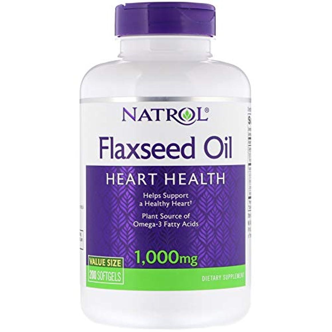 小人ブランド読みやすさNatrol - Omega-3 亜麻仁オイル 1000 mg。お買い得 サイズ 200ソフトジェルX 3パック[並行輸入品]