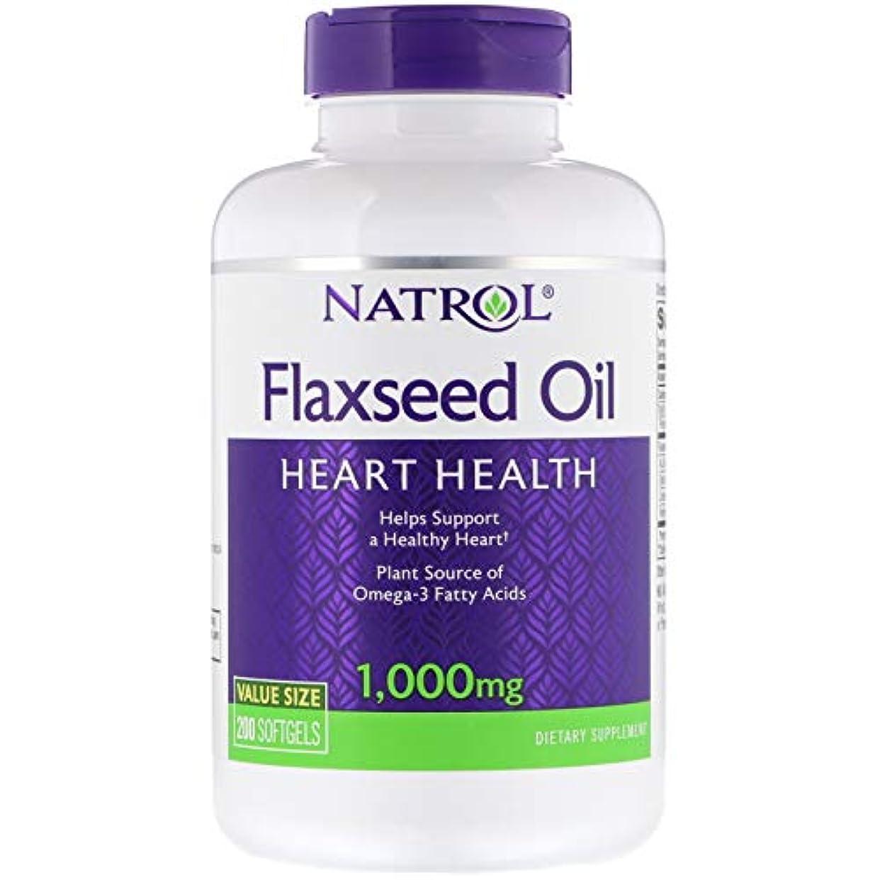 取るトチの実の木緯度Natrol - Omega-3 亜麻仁オイル 1000 mg。お買い得 サイズ 200ソフトジェルX 1パック[並行輸入品]