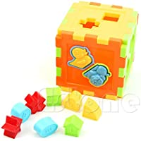 Upupo キュート キッズ ベビー カラフルブロック マジックキューブトイ 教育的 素晴らしい形のソーティングギフト