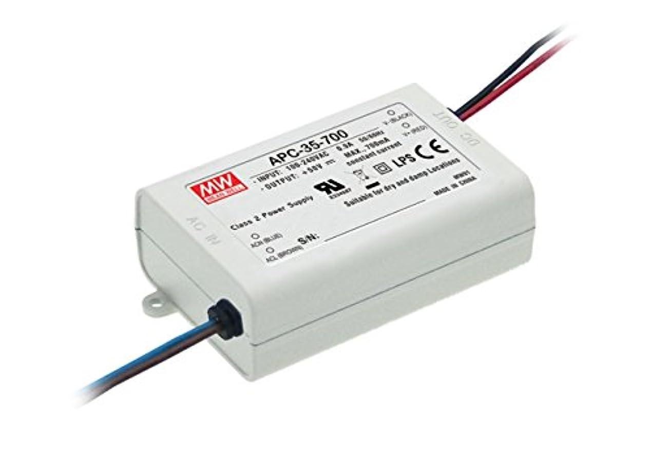 バルセロナ不承認ジャニスLED電源 35W 70VDC/500mA APC-35-500 Meanwell AC-DC スイッチング電源 APC-35シリーズ明纬定電流電源