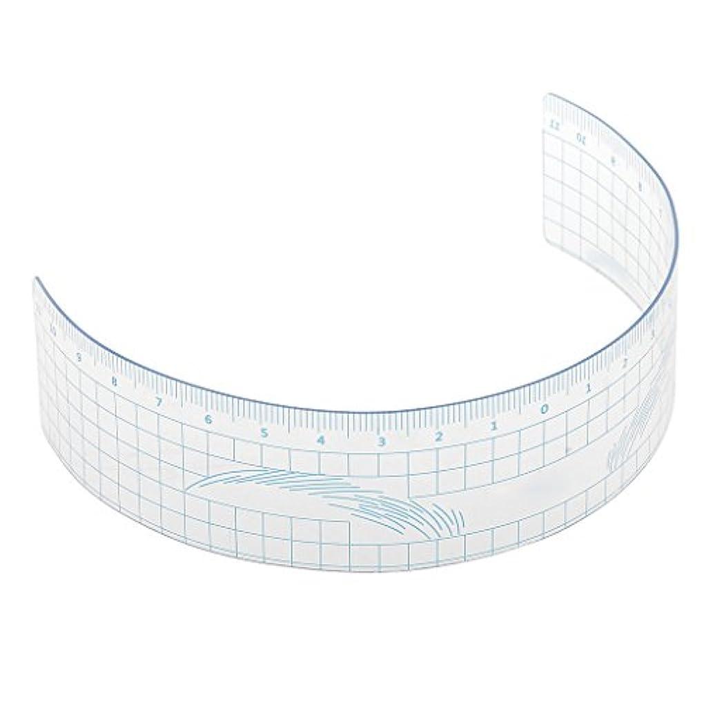 世界の窓つぶす最も眉毛の定規 眉毛ステンシル 眉毛ルーラー 測定用 ルーラー マイクロブレード 再利用可能 全3色 - ブルー