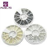 KADS 半円パール ホワイト/ベージュ/グレー 1.5mm/2mm/2.5mm/3mm/4mm/6mm ネイルデコパール マニキュアデコ用パール