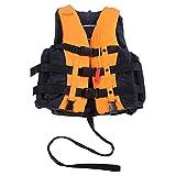 ライフジャケット フローティングベスト 救命胴衣 呼び子付け ホイッスル 反射帯付き 緊急時に役立つ 強い浮力 高い負荷力 安全安心 ベストタイプ 3カラー・5サイズに選択可能 子供用 大人用  (オレンジ, L-大人用)