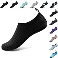 VIFUUR Unisex Quick Drying Aqua Water Shoes Pool Beach Yoga Exercise Shoes Men Women